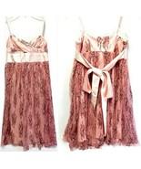 C.W. Designs Girls Spaghetti Strap Tie Back Lace with Lining Dress (Medium) - $24.75