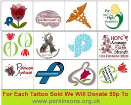 Parkinsons  Awarenes Temporary Tattoos  - $11.00