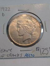 1922-D Peace Silver Dollar Heavy Die Cracks #AB290 - $125.00