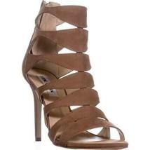 Steve Madden Swyndlee Multi Strap Dress Sandals, Tam, 8.5 US - $45.11