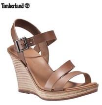 Timberland Women's Cassanna Y-Strap Sandaltan Wedge Heels Sandals Size 10M - $74.25