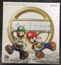 Super Mario Kart Nintendo Wii Gold Controller Club Nintendo - $38.60