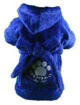 Doggy Dolly Authentic Bathrobe for The Robust Dog, Blue Small