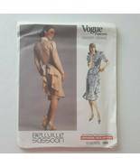 Vogue Designer Original Bellville Sassoon Dress Sewing Pattern 1980 Size 10 - $15.83