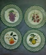 Raymond Waites Cornucopia Fruit Lattice ~ Fruits~ Salad Plates Complete ... - $24.74