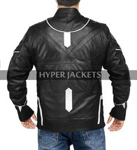 Black Panther Avengers Infinity War T'Challa (Chadwick Boseman) Black Leather Co image 4