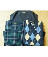 3 Sweater VESTS BOBBY JONES & Joseph Banks Navy  New L - $58.36