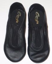 Capezio CP01C V Jazz Low Black Shoes Leather Size 10.5M 10.5 Medium Child - $37.22