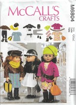 """McCall's Crafts #M6804-18"""" Doll Clothes - $6.76"""
