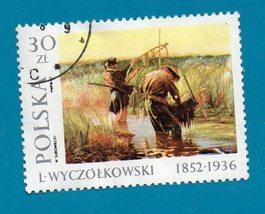 Poland Postage Stamp 1987 Leon Wyczólkowski Paintings  - $1.99