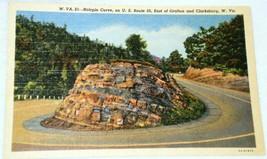 Curt Teich Hairpin Curve Grafton Clarksburg Postcard - $2.84