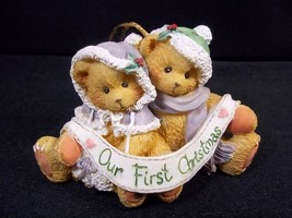 Cherished Teddies Our First Christmas ornament Enesco 1995 - $6.76