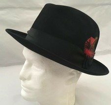 Vintage Royal Stetson Black Fedora Hat Union Sz 7 1/4, Made In USA W/ Box - $249.99