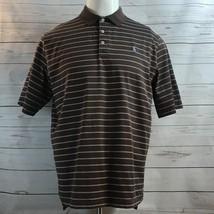 Polo Ralph Lauren Golf Pima Cotton Brown Purple Logo Striped Short Sleev... - $24.47
