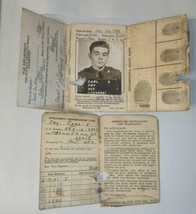 WWII US War Dept Army Military ID badge W/Bullet Hole & Pres Reagan Cer... - $34.65