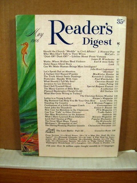 Reader's Digest, May 1966 Santo Domingo