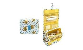 Hanging Toiletry Bag-Portable Travel Organizer Cosmetic Make up Bag, Yellow