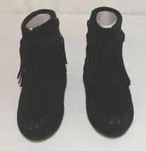 I Love Yo Kids AVA 92T Girls Fringe Boot Black Zip Up Size Eight image 2