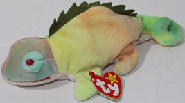 1997 Ty B EAN Ie Babies Original Iggy Iguana Errors On Tags Retired Rare Plush - $187.10