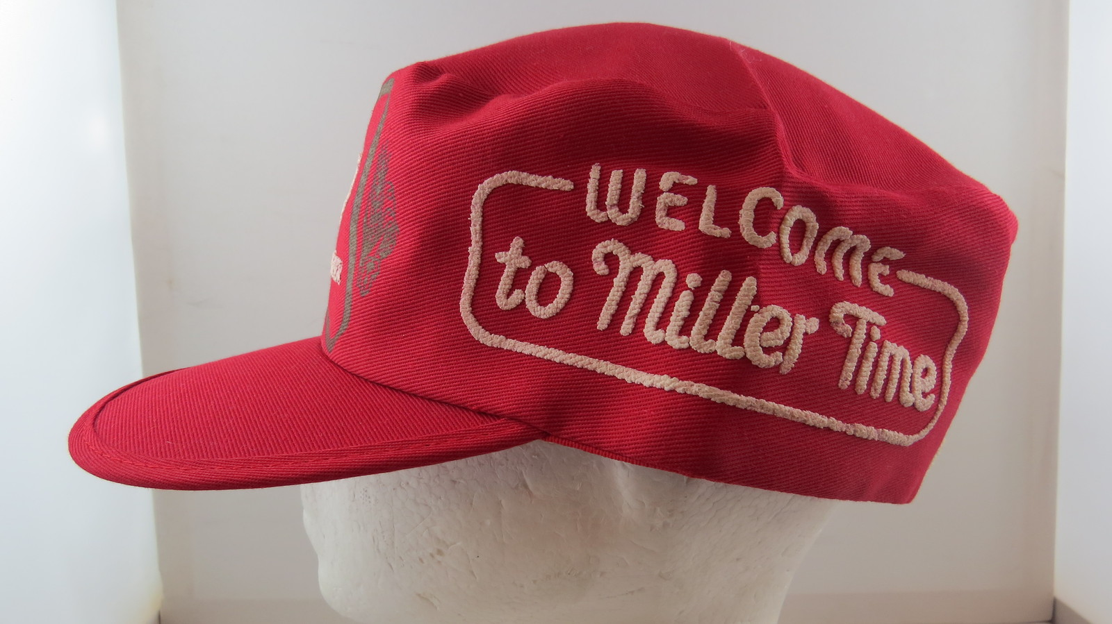 d25df0489 Miller High Life Hat - Cotton Pill Box with and 50 similar items