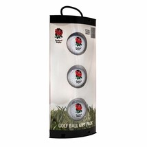 3 England Rugby Union Crested Golf Balls By Premier Licensing. Packaged. - $11.22