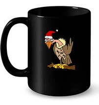 SmileteesXMAS Funny Buzzard Wearing Santa hat Ceramic Mug - $13.99+