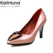 Brand Autumn Metal 31 Pumps Size Fashion 2018 Spring Women Karinluna Plus De 48 tUqwH4B