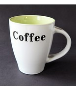 White Ceramic Novelty Coffee Cup Mug W/ Words Sayings Spoon Holder Handl... - $9.99