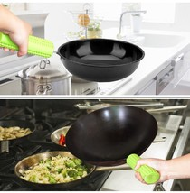 Silicone pot handle cover heat-resistant pan handle cover kitchen cooking  - £11.18 GBP