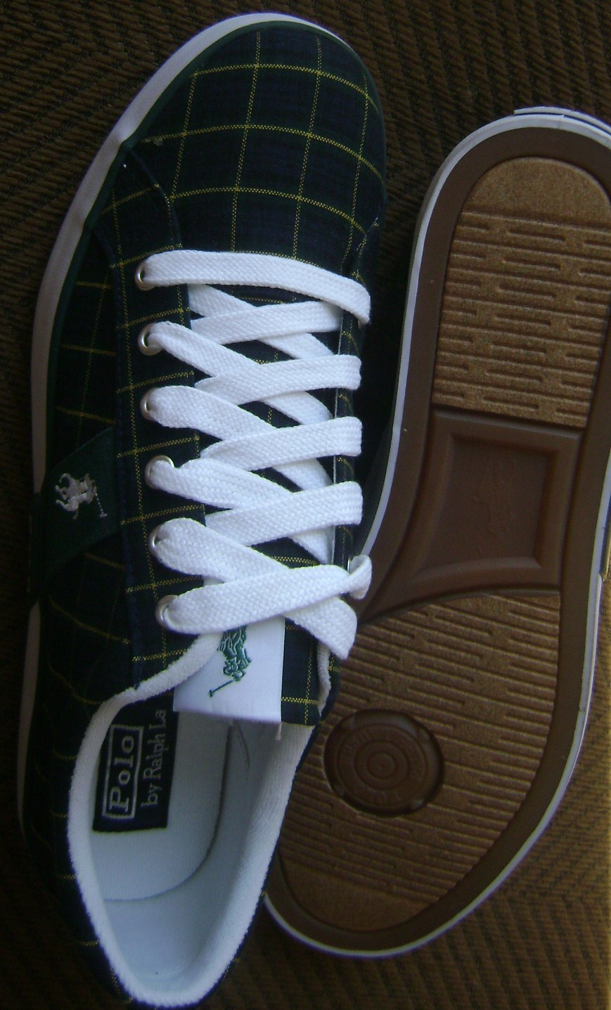 """Polo Ralph Lauren BLUE LABEL """"GILES"""" Men's Sneakers CANVAS MULTI COLOR 11D NEW"""