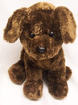 "TY Beanie Buddies SOFT BROWN PUPPY DOG 9"" Plush STUFFED ANIMAL Toy 2012 - $19.80"