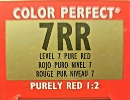 Wella Color Perfect Toners Permanent Color Creme 7RR Pure Red - $6.78