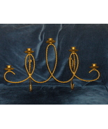 Home Interiors Wall Sconce Homco Brass Holds 5 Voltives - $34.97