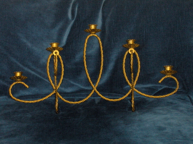Home Interiors Wall Sconce Homco Brass Holds 5 Voltives