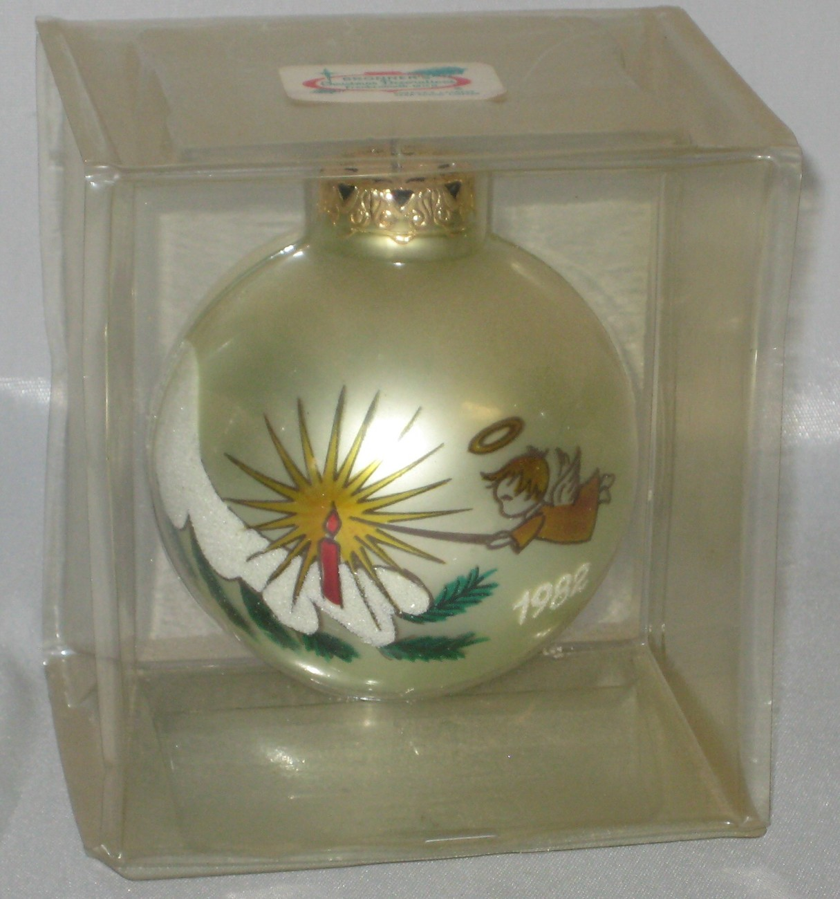 Bronners 1982 Christmas Ornament Globe Made in Austria