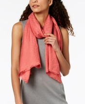 Calvin Klein Ck Logo Wrap & Scarf in One (Dark Pink) - $30.26