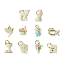 Lenox Tree Of Faith Miniature Ornaments 10 Angel Cross Bible Lamb Dove B... - $69.30