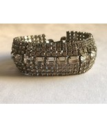 Vintage WEISS Rhinestone Crystal Bracelet Deco 50s Hollywood Regency Coc... - $105.92