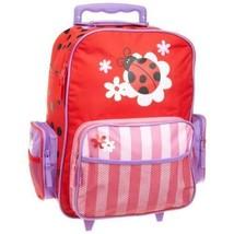Kids Travel Rolling Suitcase Wheeled Girls Bag Trolley Luggage Ladybug R... - $84.91