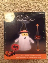 Last New Halloween LED 3 1/2' Airblown/Inflatable Ghost With Witches Hat  Decor - $35.63