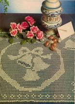 Christmas Bells His & Hers Crochet Doily Holly Leaf Tablerunner Placemat... - $9.99
