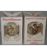 Cambells Soup Kids 1980 & 1991 Christmas Globes Boxed Vintage  - $30.00
