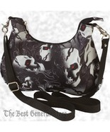"12"" Womens Biker Red Eyed Skull Camo Motorcycle Convertible Belt Loop Purse - $19.99"