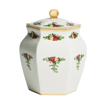 TEA CADDY OR BISCUIT JAR ROYAL ALBERT OLD COUNTRY ROSES  NEW - $56.09
