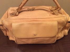 Vintage Bottega Veneta Saffron Linen Leather - $188.09