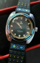 Very Rare 1970's YEMA Sous Marine Automatic Jade Green Dial Diver Mans W... - $373.65