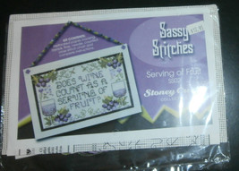 "Serving of Fruit Stoney Creek Cross Stitch Kit Wine 6.25"" x 4"" Perforate... - $8.79"
