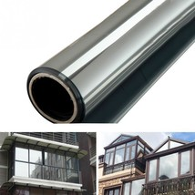 Window Tint Film Silver Mirror One Way Inter Solar Home Decor Privacy St... - $10.32