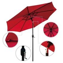 9 ft. Steel Crank and Tilt Market Patio Umbrella in Red - $71.66