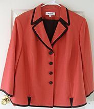 Suit Studio Skirt Suit Flame Chocolate Brown Orange 8P NWT $$$ Career Sk... - $41.69